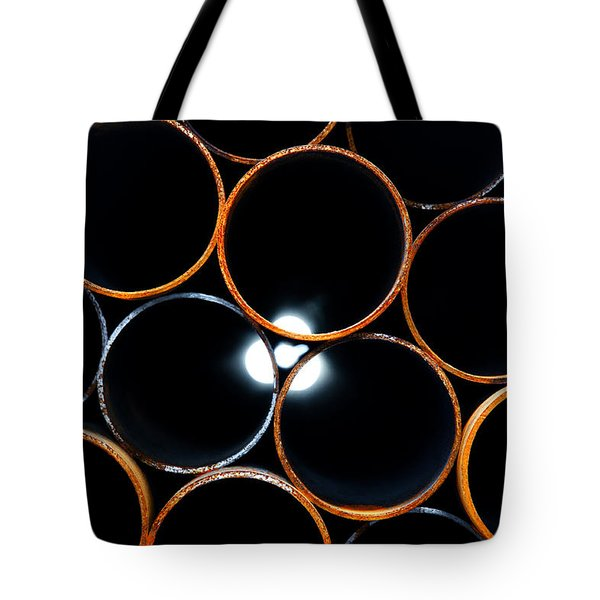 Metal pipes Tote Bag by Fabrizio Troiani