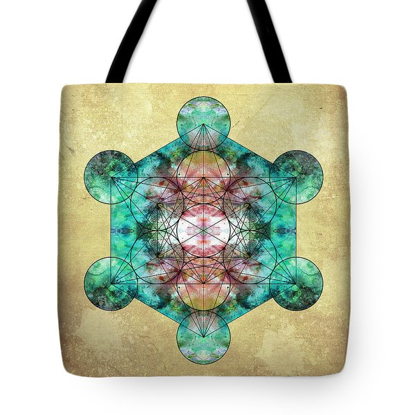 Metatron's Cube Tote Bag by Filippo B
