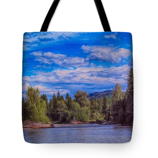 Methow River Crossing Tote Bag by Omaste Witkowski