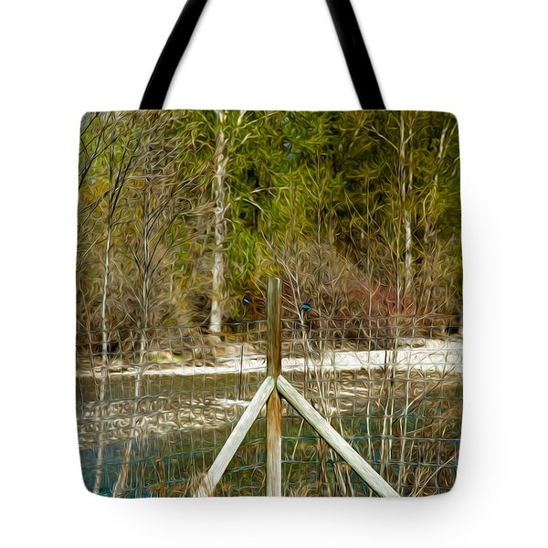 Methow River Springtime Tote Bag by Omaste Witkowski