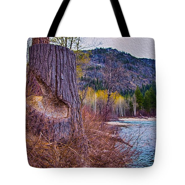 Methow Riverbank Tote Bag by Omaste Witkowski