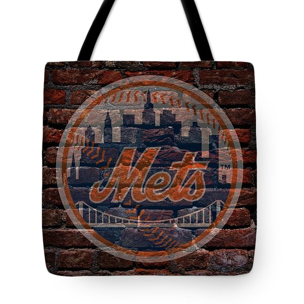 Mets Baseball Graffiti on Brick  Tote Bag by Movie Poster Prints