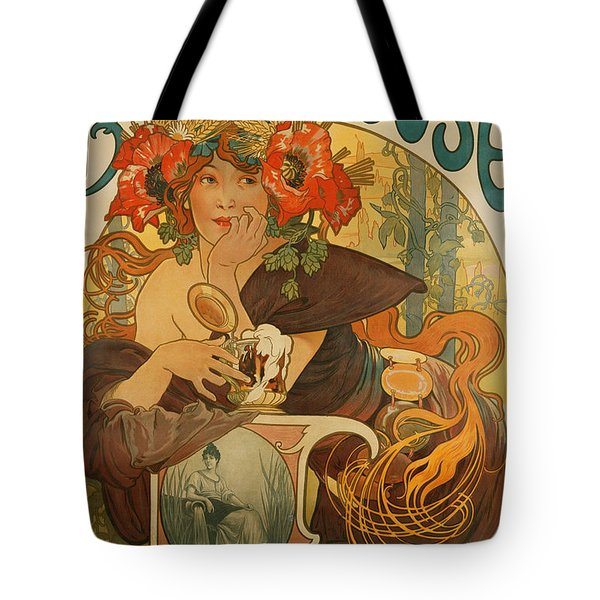 Meuse Beer Tote Bag by Alphonse Marie Mucha