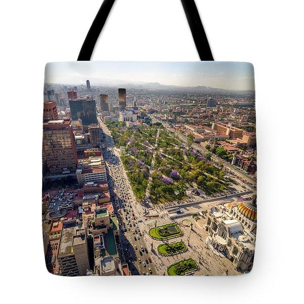 Mexico City Aerial View Tote Bag by Jess Kraft