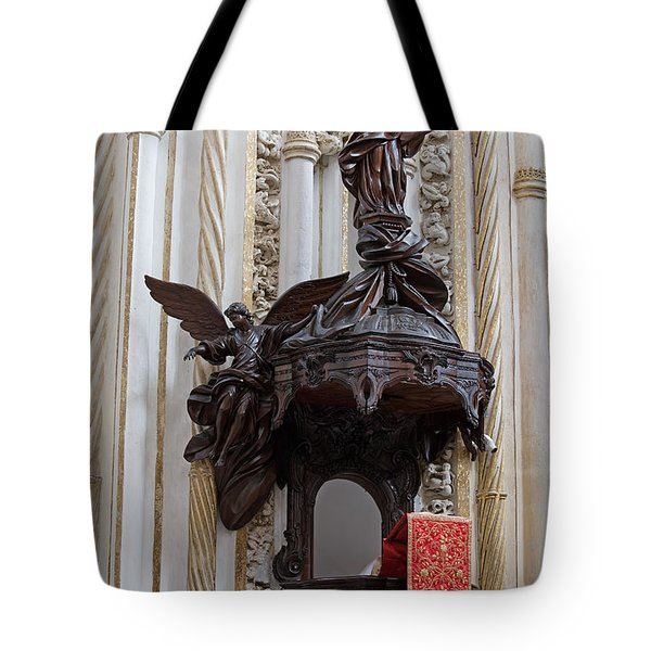 Mezquita Cathedral Pulpit in Cordoba Tote Bag by Artur Bogacki