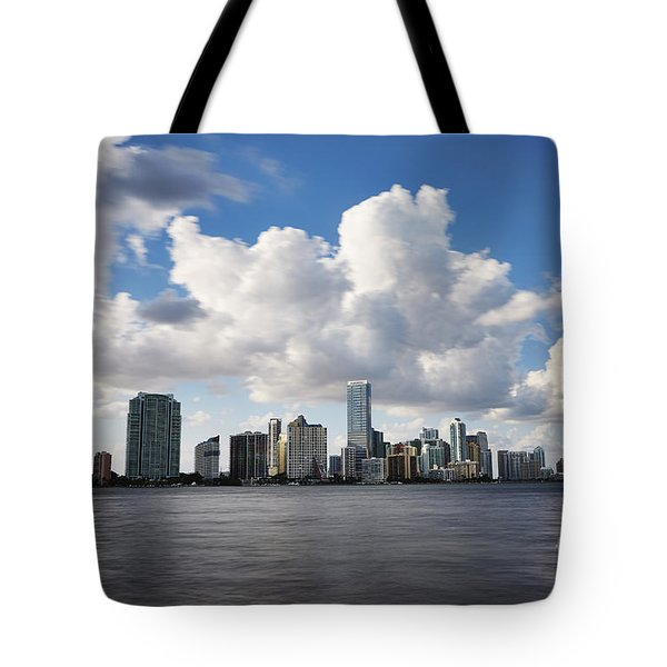 Miami Downtown in Slow Tote Bag by Eyzen M Kim