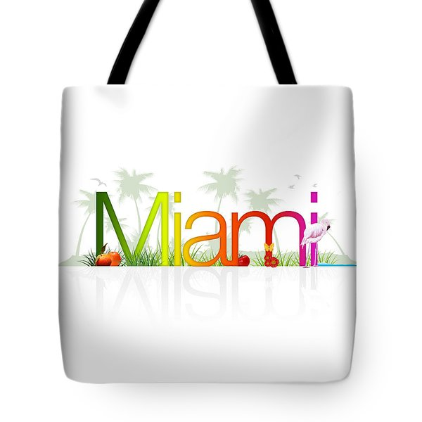 Miami- Florida Tote Bag by Aged Pixel