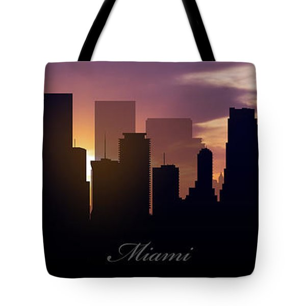 Miami Sunset Tote Bag by Aged Pixel