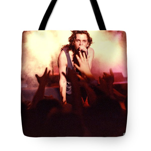 Michael Hutchence and INXS 1985 Tote Bag by Sean Davey