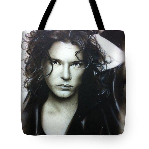 'Michael Hutchence' Tote Bag by Christian Chapman Art