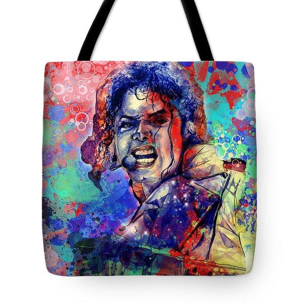 Michael Jackson 8 Tote Bag by Bekim Art