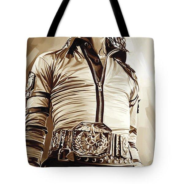 Michael Jackson Artwork 2 Tote Bag by Sheraz A