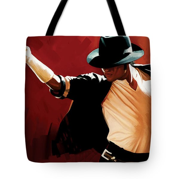 Michael Jackson Artwork 4 Tote Bag by Sheraz A
