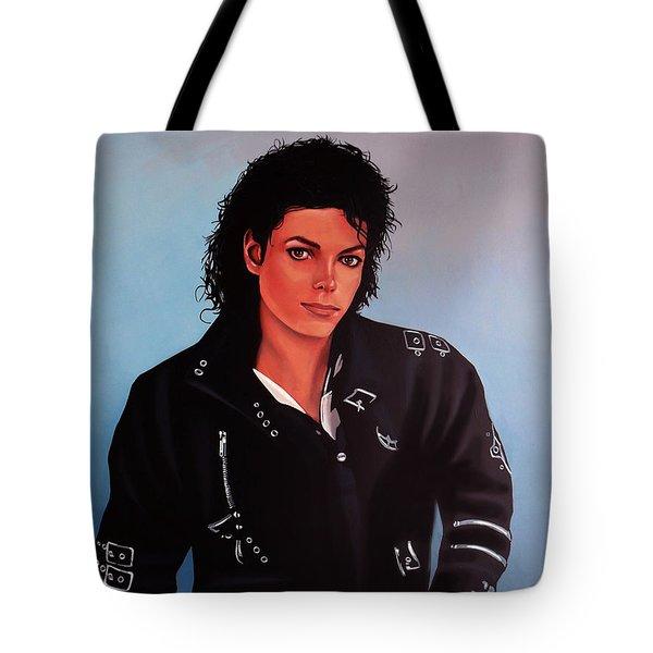 Michael Jackson Bad Tote Bag by Paul  Meijering