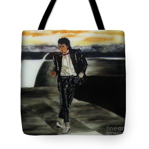 Michael Jackson Tote Bag by Betta Artusi