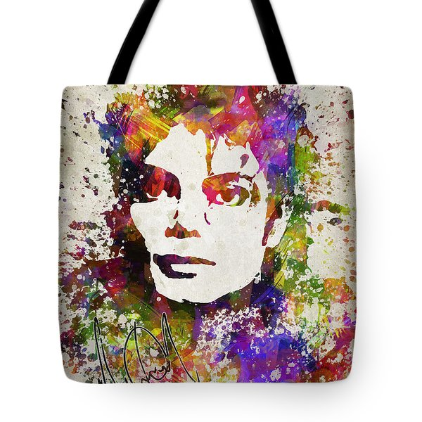 Michael Jackson In Color Tote Bag by Aged Pixel