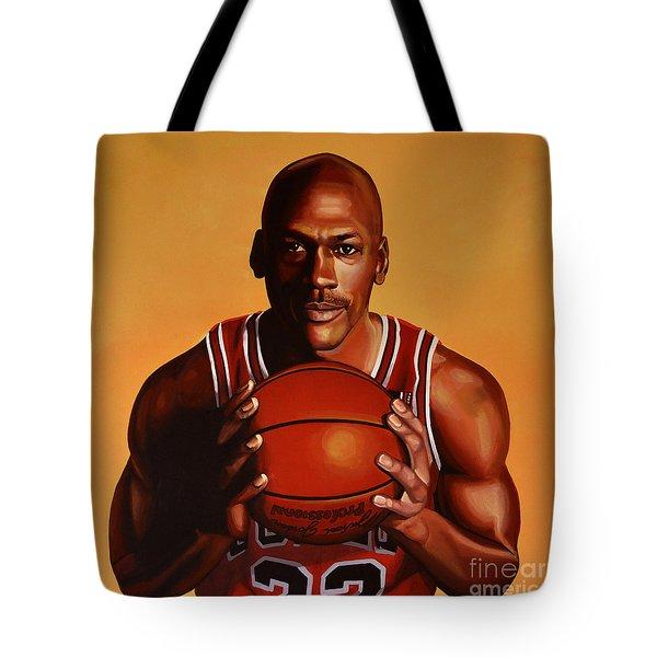 Michael Jordan 2 Tote Bag by Paul Meijering