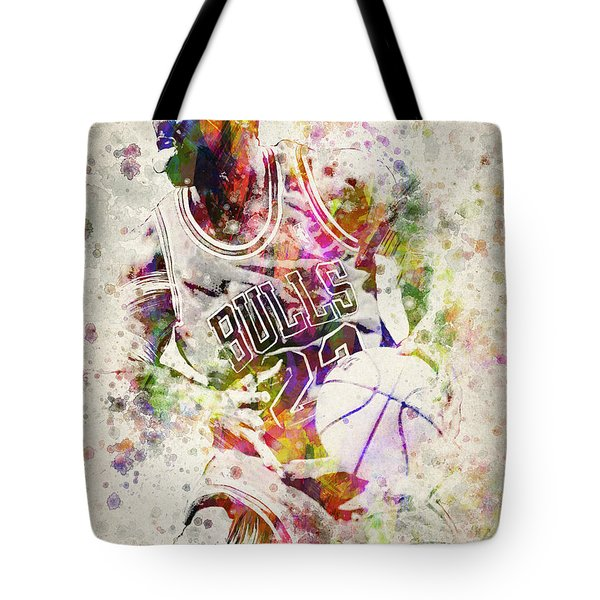 Michael Jordan Tote Bag by Aged Pixel