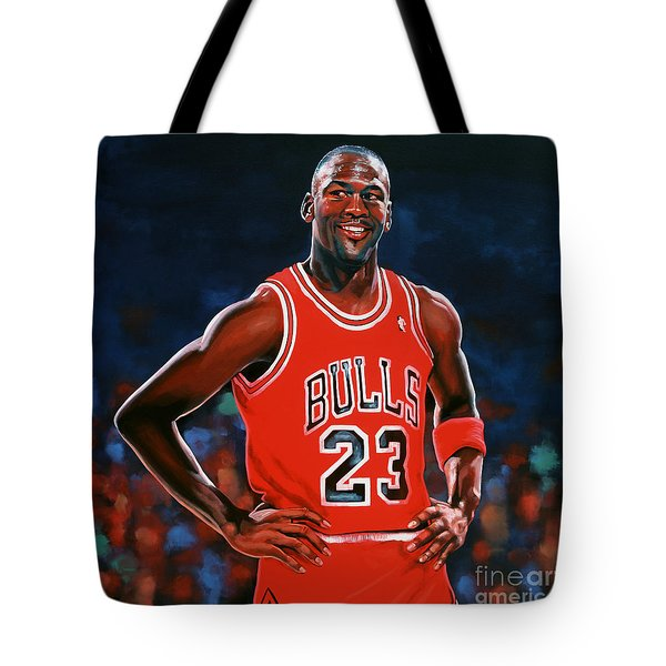 Michael Jordan Tote Bag by Paul Meijering