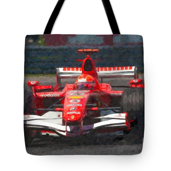 Michael Schumacher Canadian Grand Prix I Tote Bag by Clarence Holmes