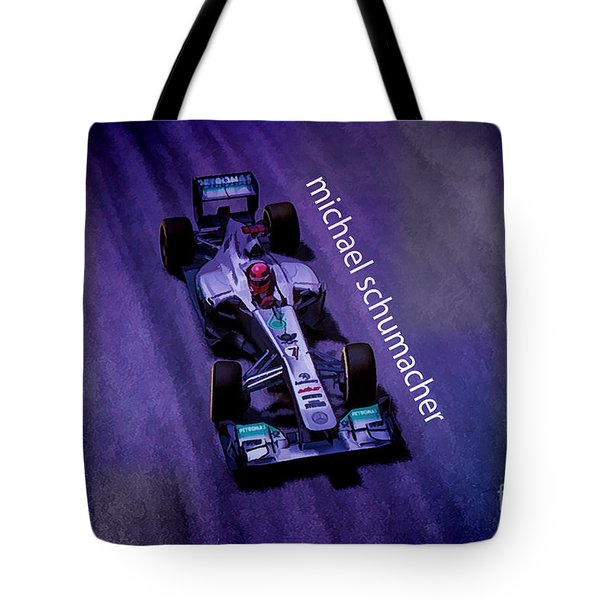 Michael Schumacher Tote Bag by Marvin Spates