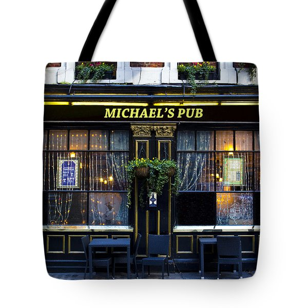 Michaels''s Pub Tote Bag by David Pyatt