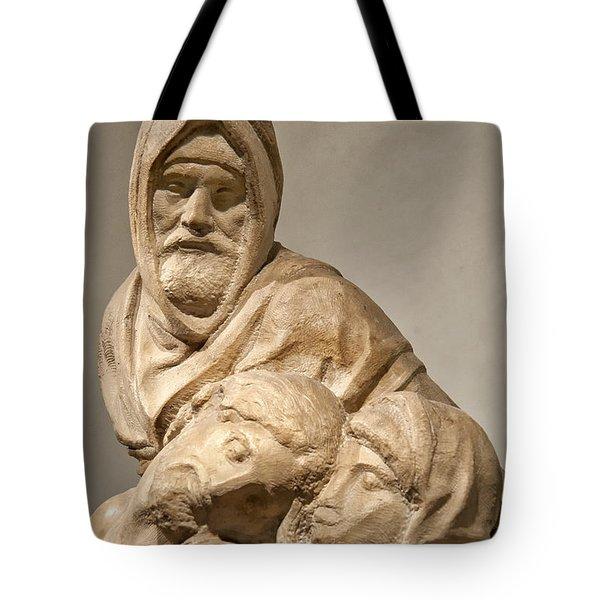 Michelangelo's Final Pieta Tote Bag by Melany Sarafis