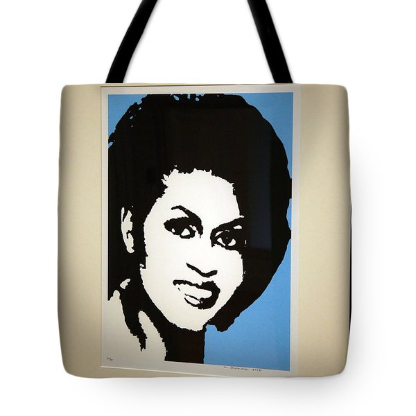 Michelle Obama Tote Bag by Cora Wandel