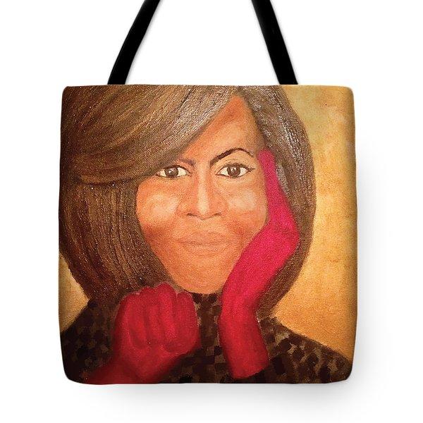Michelle Obama Tote Bag by Ginnie McKnight