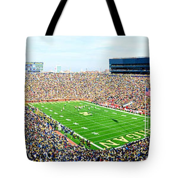 Michigan Stadium Tote Bag by Georgia Fowler