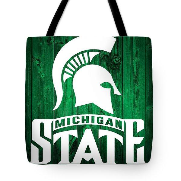 Michigan State Barn Door Tote Bag by Dan Sproul