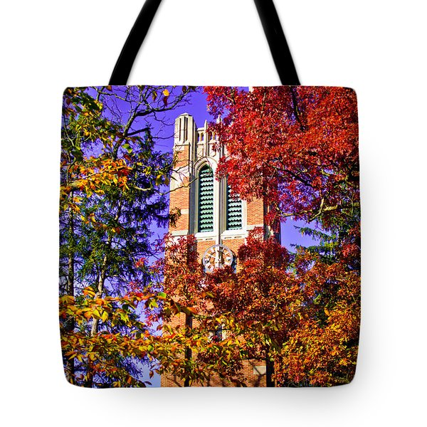 Michigan State University Beaumont Tower Tote Bag by John McGraw