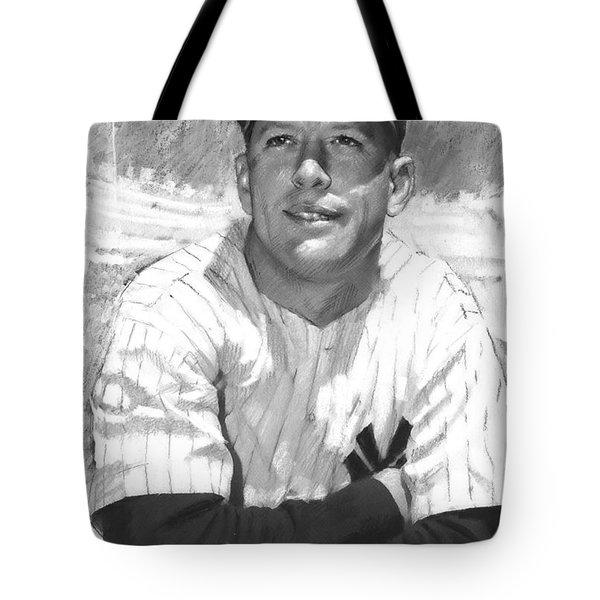 Mickey Mantle Tote Bag by Viola El