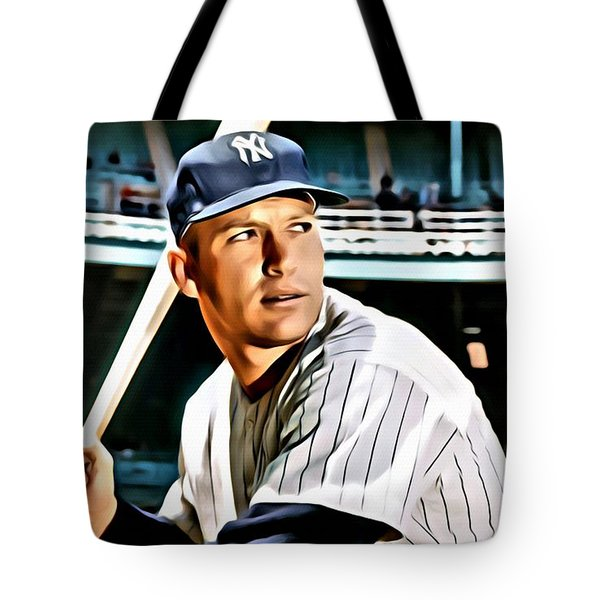 Mickey Mantle Tote Bag by Florian Rodarte