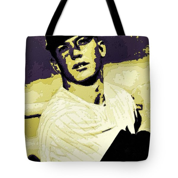 Mickey Mantle Poster Art Tote Bag by Florian Rodarte