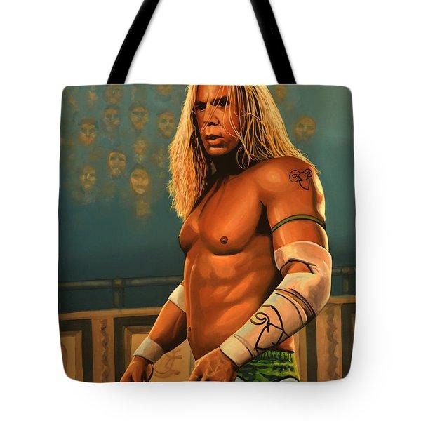 Mickey Rourke Tote Bag by Paul  Meijering