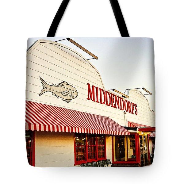 Middendorf's Tote Bag by Scott Pellegrin