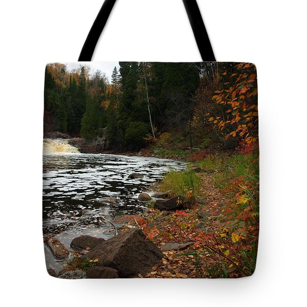 Middle Falls Tettegouche Tote Bag by James Peterson