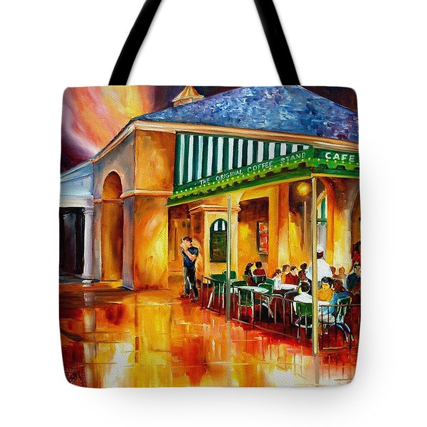 Midnight At The Cafe Du Monde Tote Bag by Diane Millsap