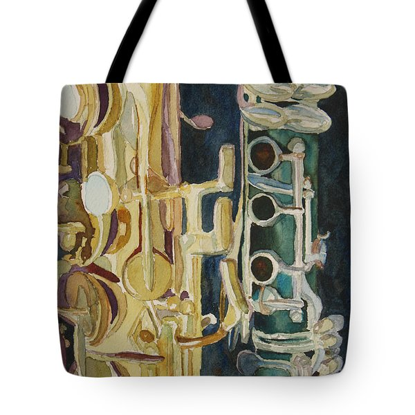 Midnight Duet Tote Bag by Jenny Armitage