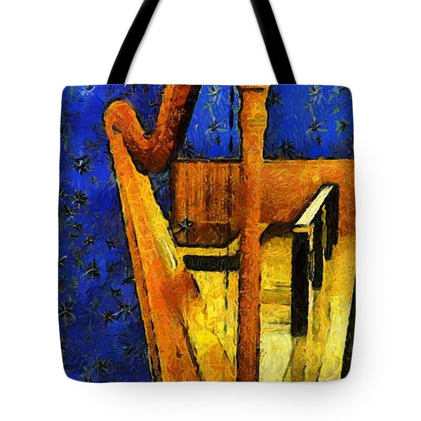 Midnight Harp Tote Bag by RC DeWinter