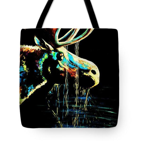 Midnight Moose Drool  Tote Bag by Teshia Art
