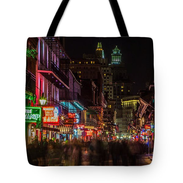 Midnight On Bourbon Street Tote Bag by John McGraw