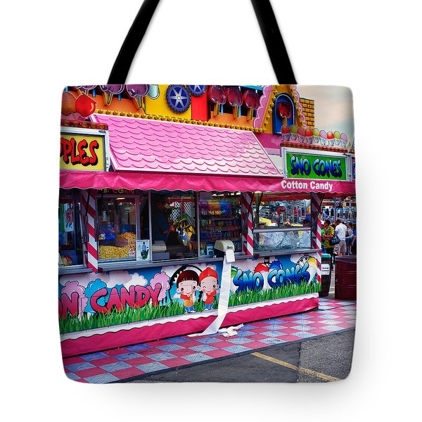 Midway Junk Food Tote Bag by Trever Miller