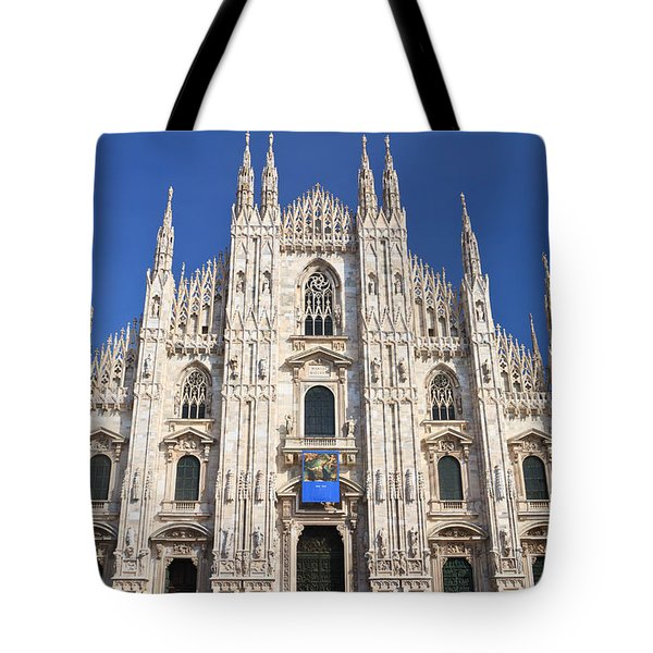 Milan cathedral  Tote Bag by Antonio Scarpi