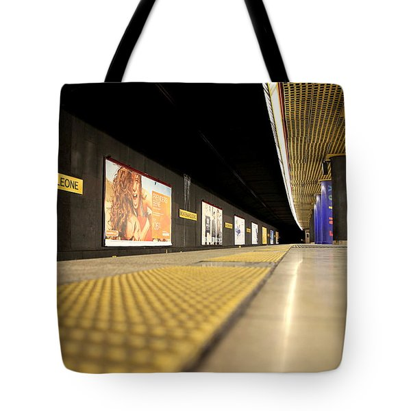 Milan Subway Station Tote Bag by Valentino Visentini