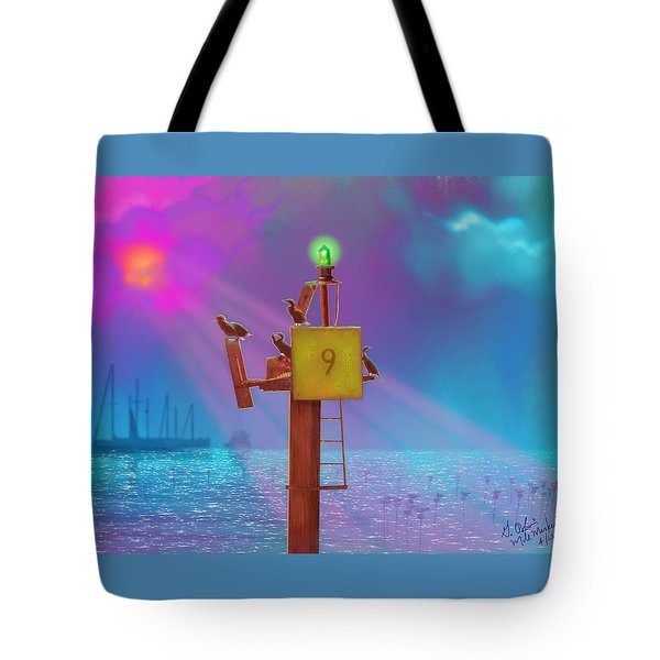 Mile Marker 9 Tote Bag by Gerry Robins