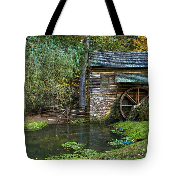Mill Pond In Woods Tote Bag by William Jobes