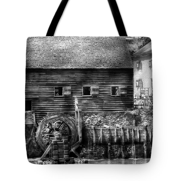 Mill - Sleepy Hollow Ny - By The Mill Tote Bag by Mike Savad