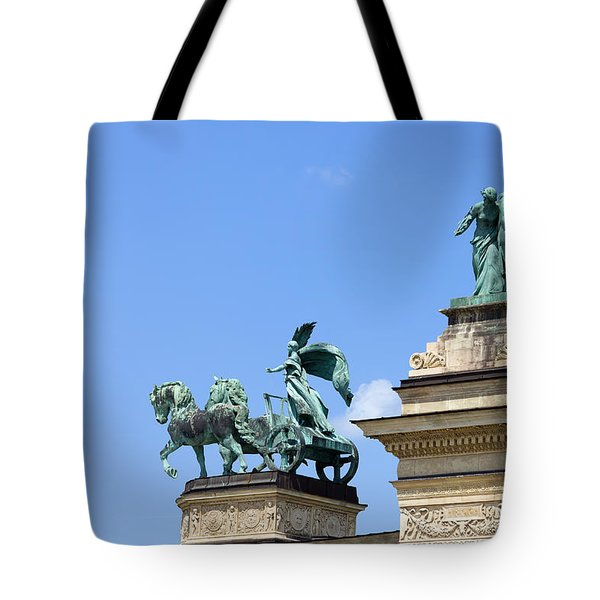 Millennium Monument in Budapest Tote Bag by Artur Bogacki